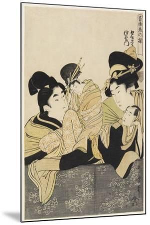Yugiri and Izaemon, C. 1801-Kitagawa Utamaro-Mounted Giclee Print