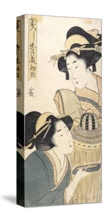 Act 1-Kitagawa Utamaro-Stretched Canvas Print