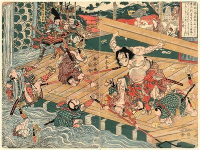 Chinzei Hachiro Tametomo-Kubo Shunman-Framed Giclee Print