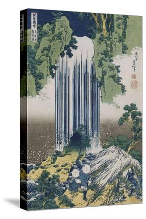 Yoro Waterfall, Mino Province', from the Series 'A Journey to the Waterfalls of All the Provinces'-Katsushika Hokusai-Stretched Canvas Print