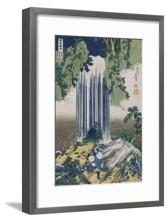 Yoro Waterfall, Mino Province', from the Series 'A Journey to the Waterfalls of All the Provinces'-Katsushika Hokusai-Framed Giclee Print