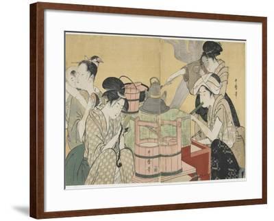Kitchen Scene, 1794-1795-Kitagawa Utamaro-Framed Giclee Print