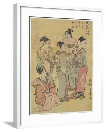 Group Singers, 1781-1806-Kitagawa Utamaro-Framed Giclee Print