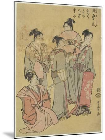 Group Singers, 1781-1806-Kitagawa Utamaro-Mounted Giclee Print