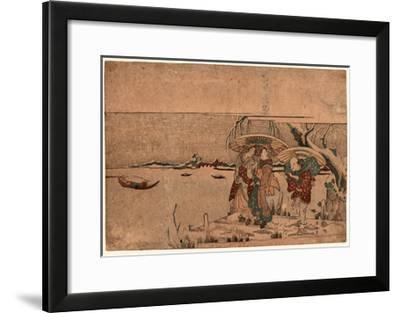 Secchu Sanbashi No Geinin-Kikukawa Eizan-Framed Giclee Print