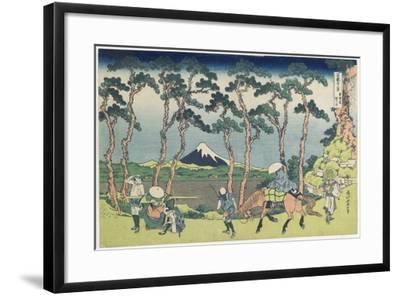 Hodogaya on the Tokaido Road, 1831-1834-Katsushika Hokusai-Framed Giclee Print