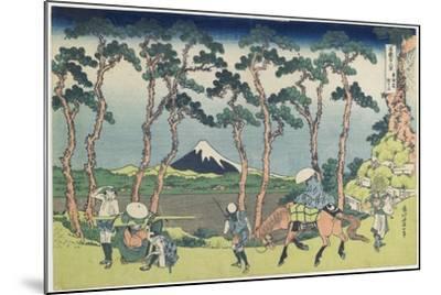 Hodogaya on the Tokaido Road, 1831-1834-Katsushika Hokusai-Mounted Giclee Print