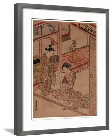 Zashiki No Yujo to Kamuro-Kitao Shigemasa-Framed Giclee Print