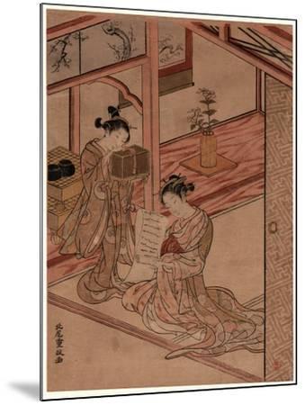 Zashiki No Yujo to Kamuro-Kitao Shigemasa-Mounted Giclee Print