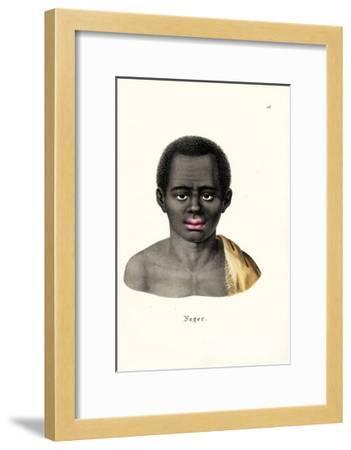 Black Man, 1824-Karl Joseph Brodtmann-Framed Giclee Print