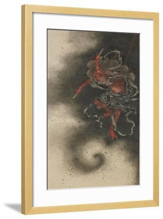 Thunder God, Edo Period, 1847-Katsushika Hokusai-Framed Giclee Print