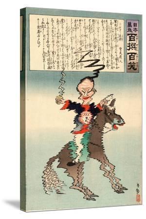 Buruburu Taisho-Kobayashi Kiyochika-Stretched Canvas Print