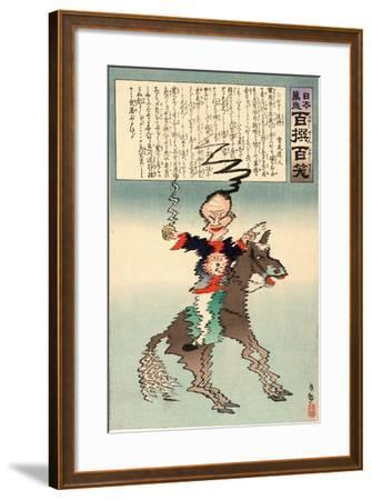 Buruburu Taisho-Kobayashi Kiyochika-Framed Giclee Print