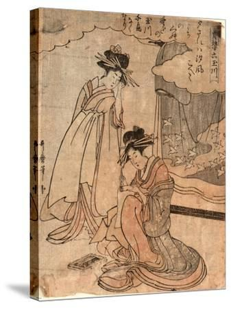 Chidori No Tamagawa-Kitagawa II Utamaro-Stretched Canvas Print