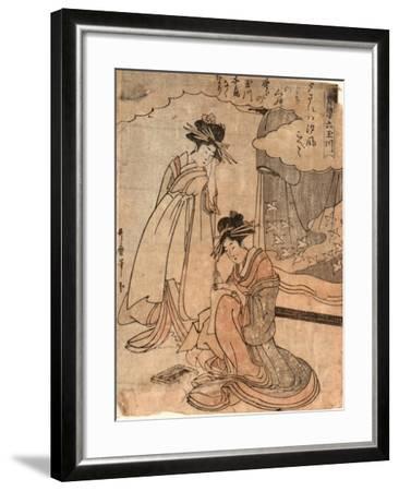Chidori No Tamagawa-Kitagawa II Utamaro-Framed Giclee Print