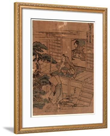 Nidanme-Katsushika Hokusai-Framed Giclee Print