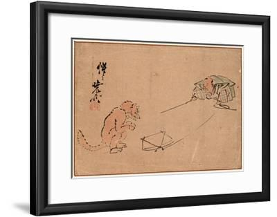 Tsuri Gitsune-Kawanabe Kyosai-Framed Giclee Print