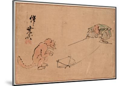 Tsuri Gitsune-Kawanabe Kyosai-Mounted Giclee Print