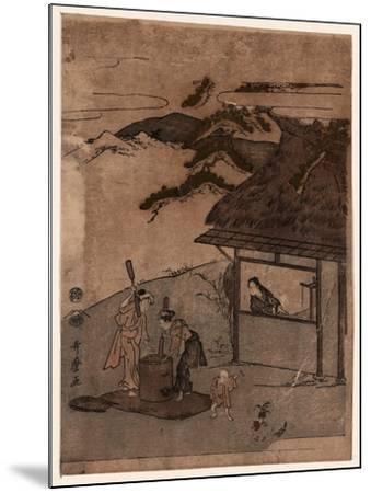 Chofu No Tamagawa-Kitagawa Utamaro-Mounted Giclee Print