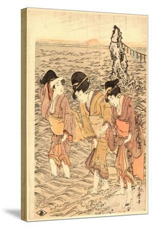Futamigaura-Kitagawa Utamaro-Stretched Canvas Print