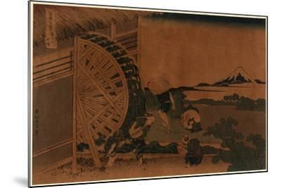 Onden No Suisha-Katsushika Hokusai-Mounted Giclee Print