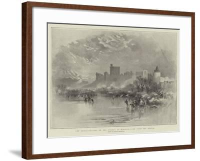 The Frost, Skating on the Thames at Windsor, View from the Brocas-Keeley Halswelle-Framed Giclee Print
