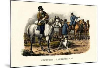 German Farm Horses, 1824-Karl Joseph Brodtmann-Mounted Giclee Print