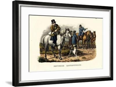 German Farm Horses, 1824-Karl Joseph Brodtmann-Framed Giclee Print