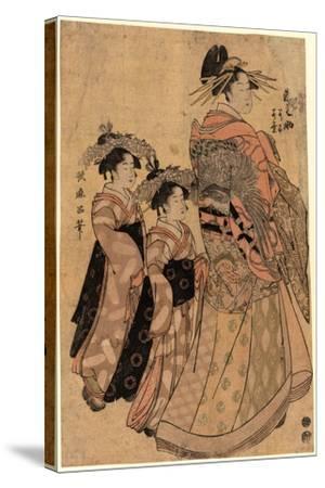 Matsubaya Uchi Somenosuke-Kitagawa Utamaro-Stretched Canvas Print