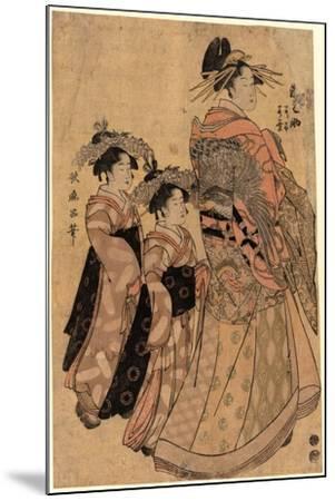 Matsubaya Uchi Somenosuke-Kitagawa Utamaro-Mounted Giclee Print