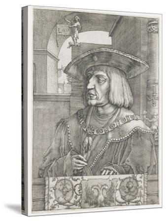 Emperor Maximilian I, 1520-Lucas van Leyden-Stretched Canvas Print