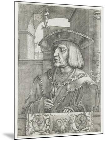 Emperor Maximilian I, 1520-Lucas van Leyden-Mounted Giclee Print