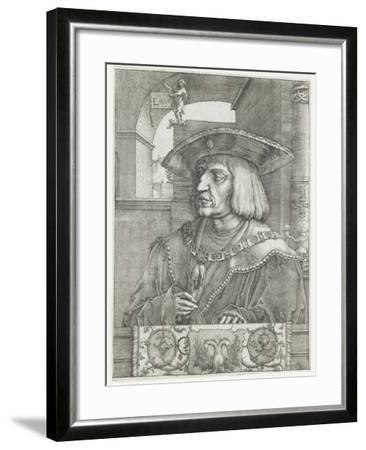 Emperor Maximilian I, 1520-Lucas van Leyden-Framed Giclee Print