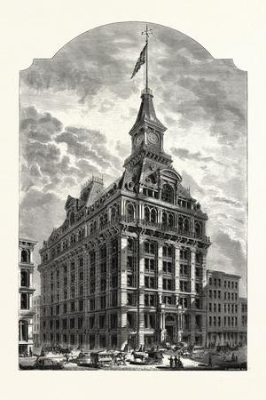 The Western Union Telegraph Building, New York, Was Completed in 1875. Usa-Marc Nattier-Framed Giclee Print