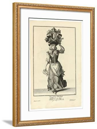 The Merry Milk Maid, 1733-Marcellus Lauron-Framed Giclee Print