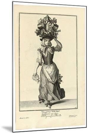 The Merry Milk Maid, 1733-Marcellus Lauron-Mounted Giclee Print