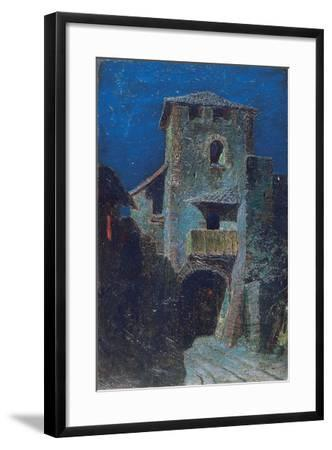 Effect of the Moon over Antique Architecture-Mario De Maria-Framed Giclee Print