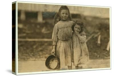 Maud and Grade Daly-Lewis Wickes Hine-Stretched Canvas Print