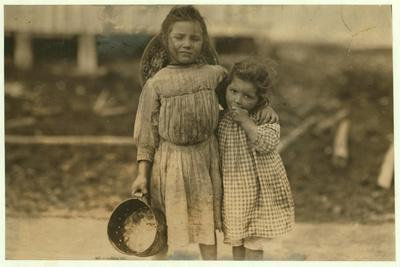 Maud and Grade Daly-Lewis Wickes Hine-Photographic Print