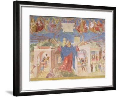 Detail from 'Christ-Vine and the Legend of Saint Barbara', 1524-Lorenzo Lotto-Framed Giclee Print