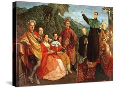 A Jesuit and His Family-Marco Benefial-Stretched Canvas Print