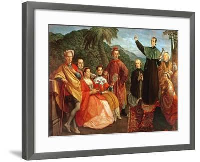 A Jesuit and His Family-Marco Benefial-Framed Giclee Print