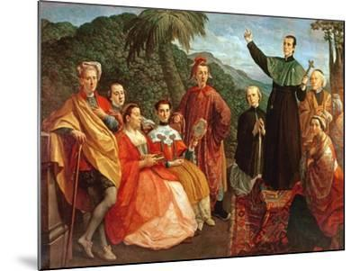 A Jesuit and His Family-Marco Benefial-Mounted Giclee Print