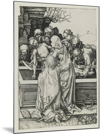 The Entombment-Martin Schongauer-Mounted Giclee Print