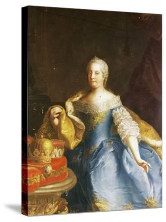 Portrait of Empress Maria Theresa of Austria (Vienna, 1717-1780)-Martin Van Mytens II-Stretched Canvas Print