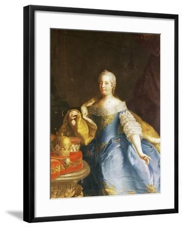 Portrait of Empress Maria Theresa of Austria (Vienna, 1717-1780)-Martin Van Mytens II-Framed Photographic Print