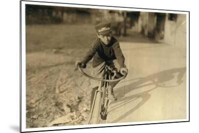 Curtin Hines Aged 14, Western Union Messenger for 6 Months, Houston, Texas, 1913-Lewis Wickes Hine-Mounted Photographic Print