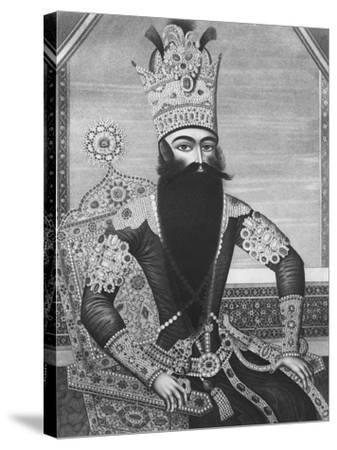 Fath-Ali Shah Qajar-Louis Charles Ruotte-Stretched Canvas Print
