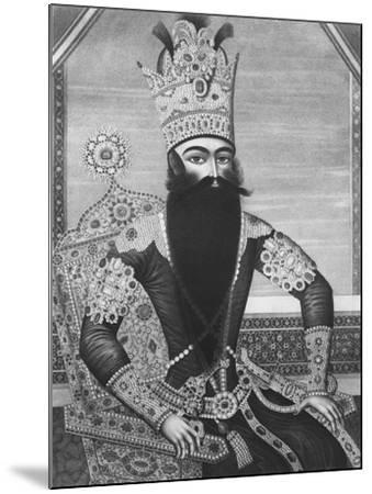 Fath-Ali Shah Qajar-Louis Charles Ruotte-Mounted Giclee Print