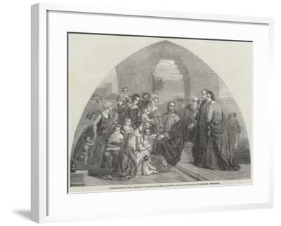 Christ Blessing Little Children-Marshall Claxton-Framed Giclee Print